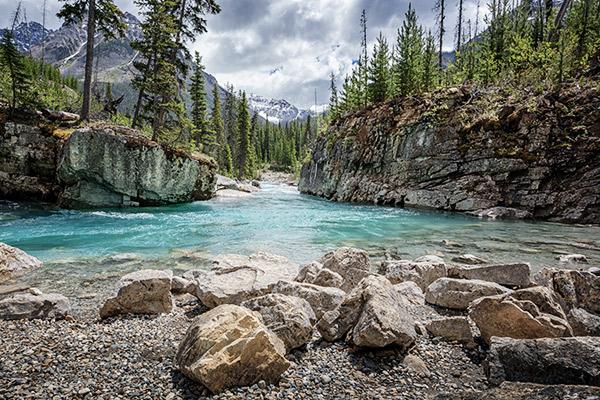 Marble Canyon im Kootenay Nationalpark, Kanada