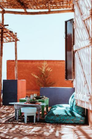 marokkanische terrasse