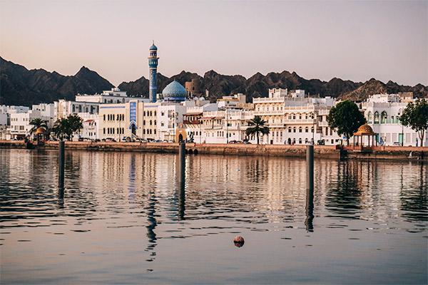 Hauptstadt Maskat Abendstimmung, Oman