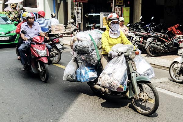 Das Transportmittel schlechthin in Vietnam