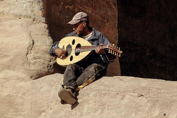 Musikan Kloster Petra, Jordanien