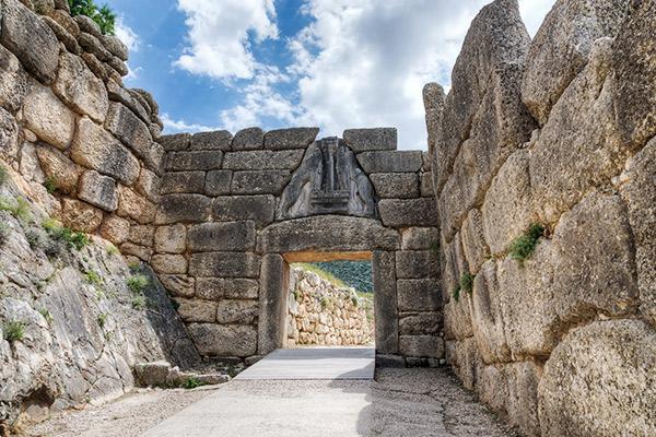 Löwentor Mykene, Peloponnes