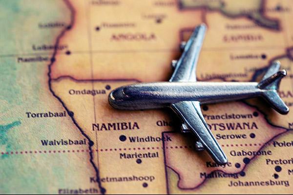 Karte von Namibia