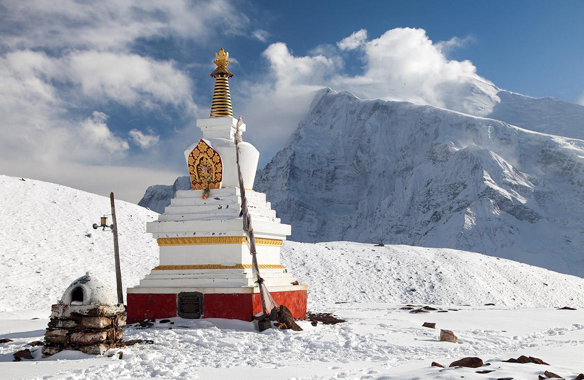 Nepal Blick auf Annapurna 2 und Ganggapurna