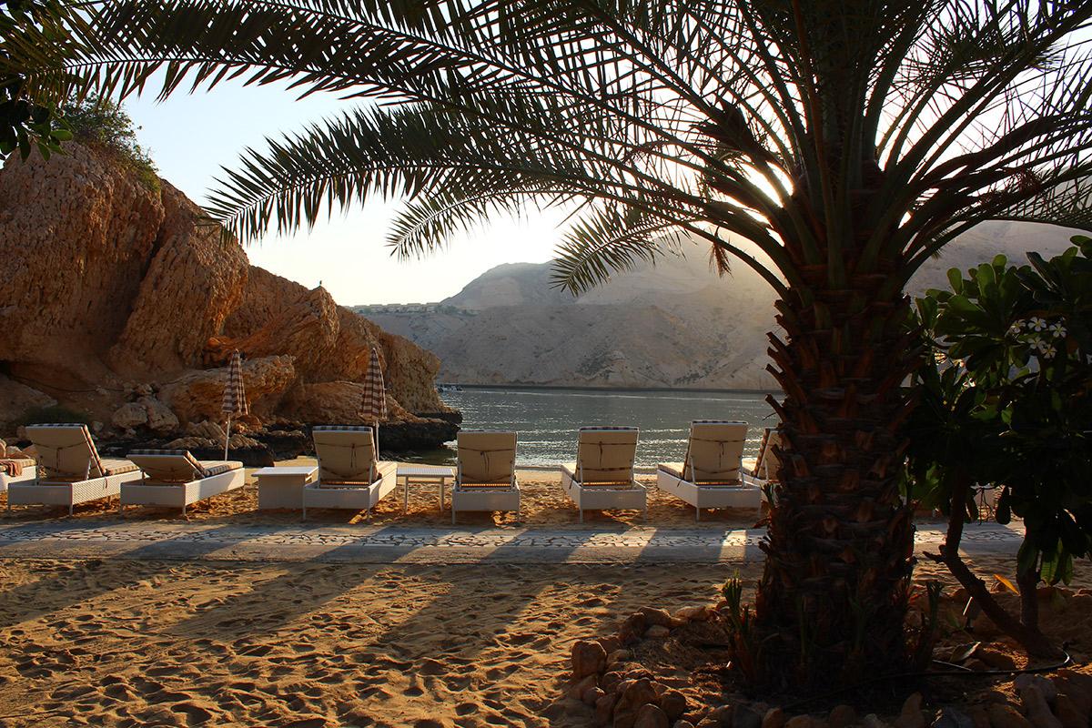 Entspannen am Strand vom Muscat Hill Resort