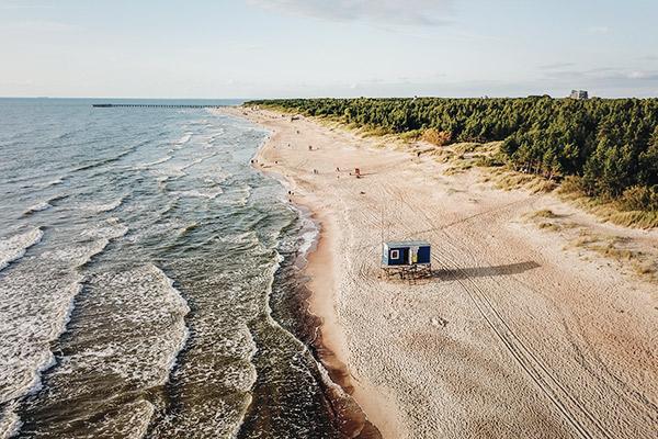 Strand in Palanga, Litauen