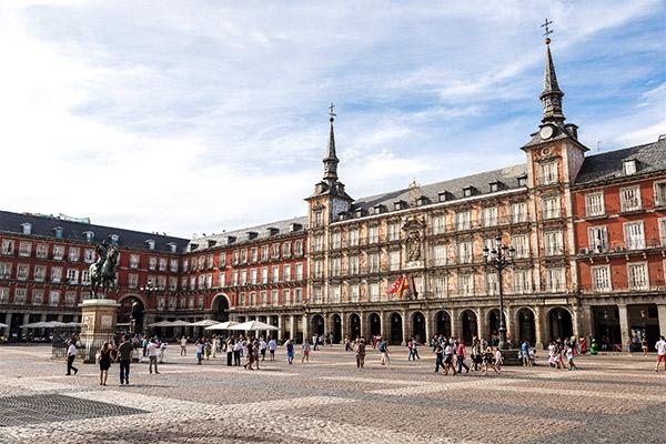 Plaza Mayor, Madrid Spanien