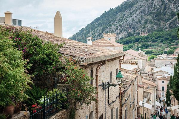 Rustikale Häuser des Ortes Pollença, Mallorca