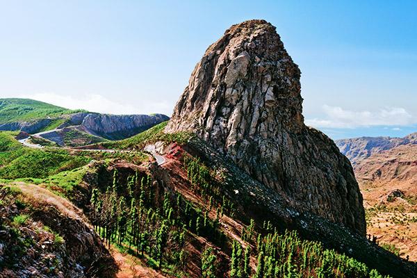 Roque de Agando auf La Gomera