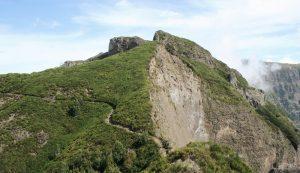 Abstiegspfad vom Gipfel