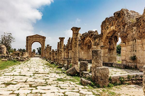 Ruinen in Tyros, Libanon