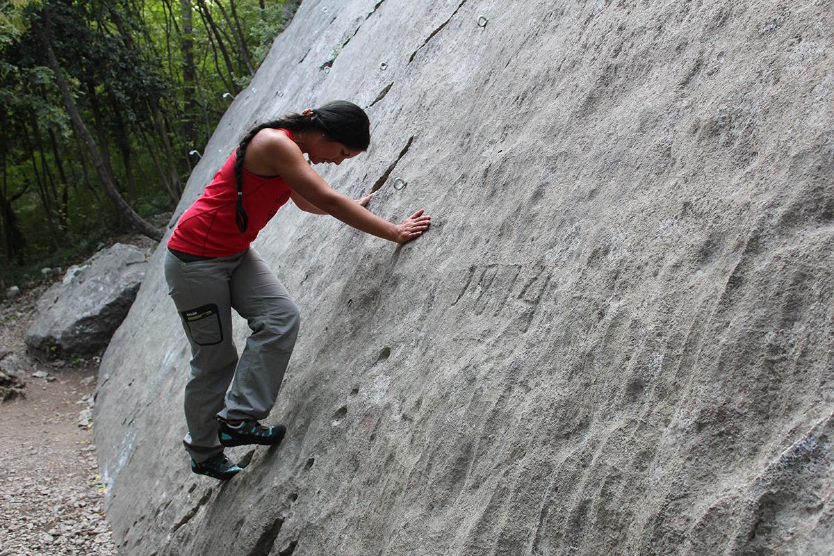 Erste Versuche am Fels
