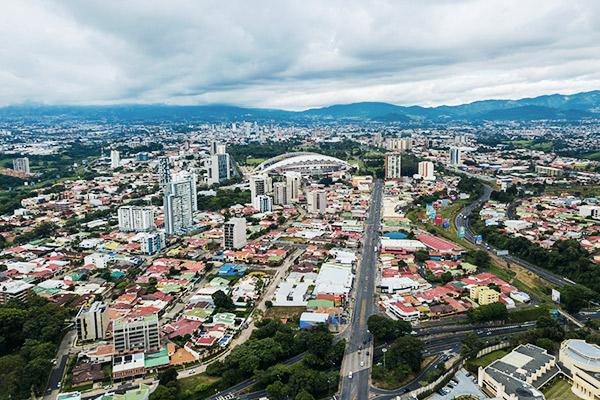 Blick auf San José, Costa Rica