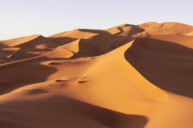 Sanddühnen der Erg Chebbi Wüste, Marokko