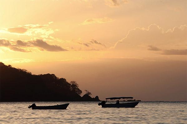Santa Catalina Sonneuntergang, Panama