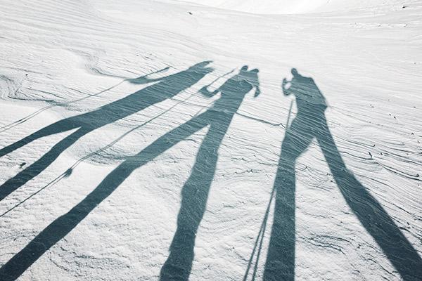 Schattenschauspiel am Monte Castello, Dolomiten