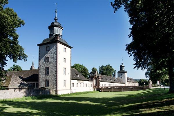 Schloss Corvey bei Höxter am Weser Radweg