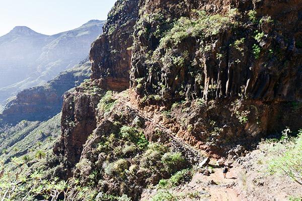 Schlucht Guarimiar auf La Gomera