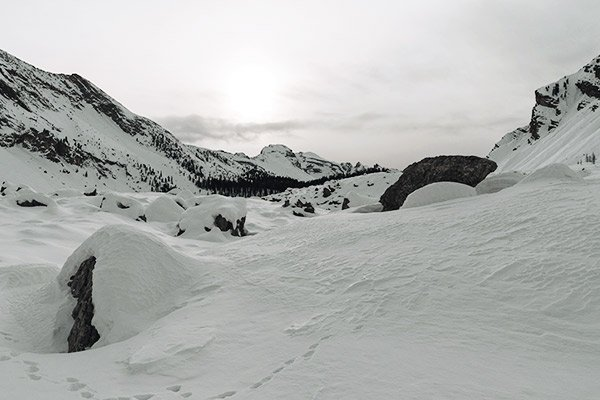 Schnee, Fanesgruppe Dolomiten