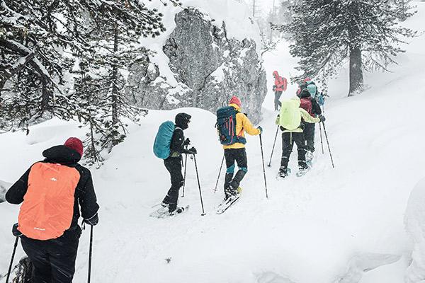 Schneegestöber Wandergruppe, Dolomiten