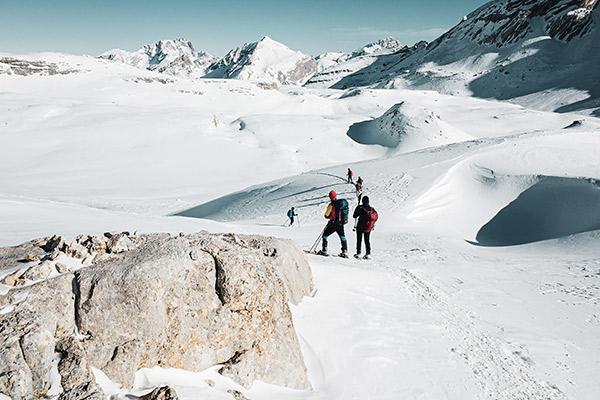 Aufstieg zum Heiligkreuzkofel, Dolomiten