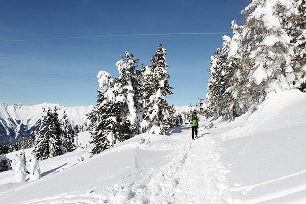 Schneeschuhwanderer individuell