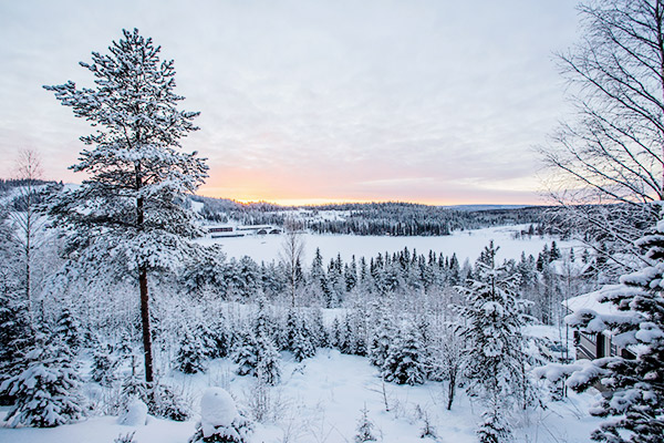 Sonnenuntergang im Winter, Norwegen