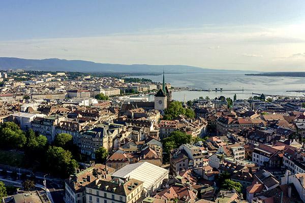 Blick auf die Stadt Genf