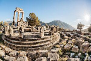 Sehenswürdigkeit Griechenland, Ruinen des Orakel von Delphi.