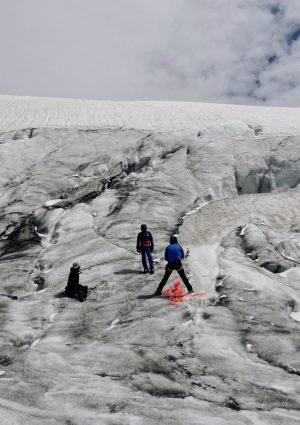 Seilschaft am Gletscher, Hohe Tauern