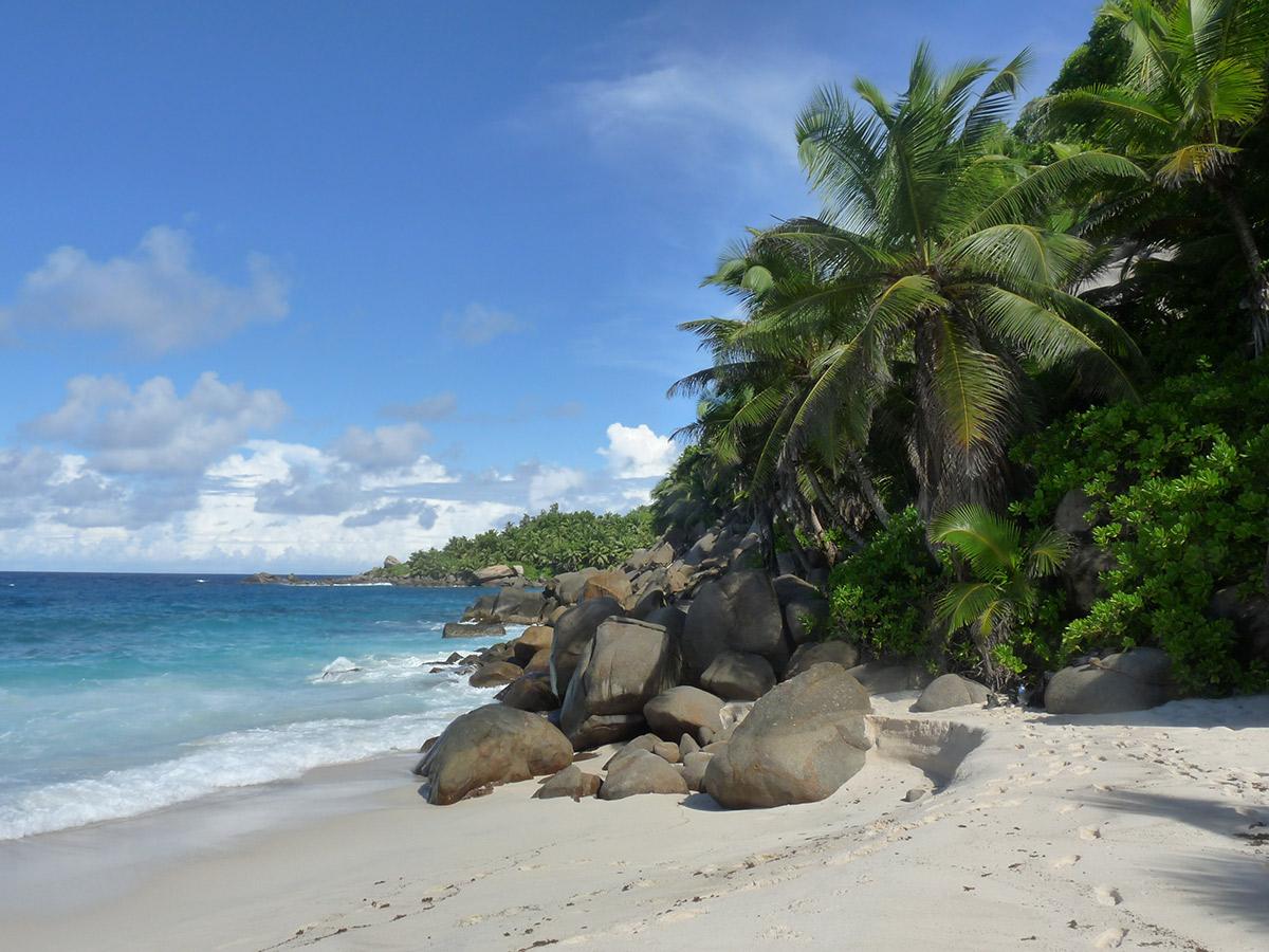 Anse Capuncins im Süden von Mahé