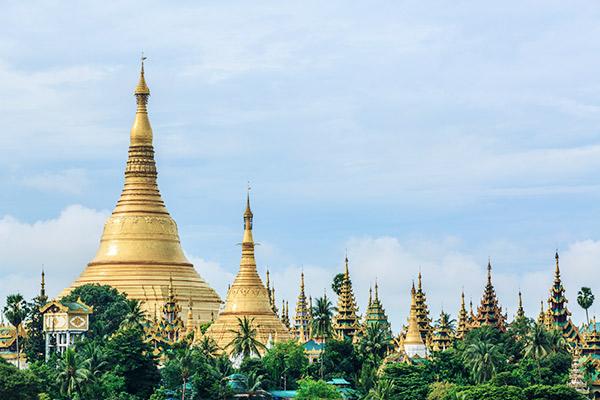 Shwedagon Pagode, Yangon Myanmar