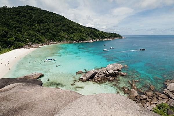 Weißer Sandstrand Similan Islands, Thailand