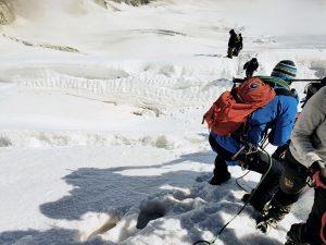 Bergsteiger in der Seilschaft, Schweiz