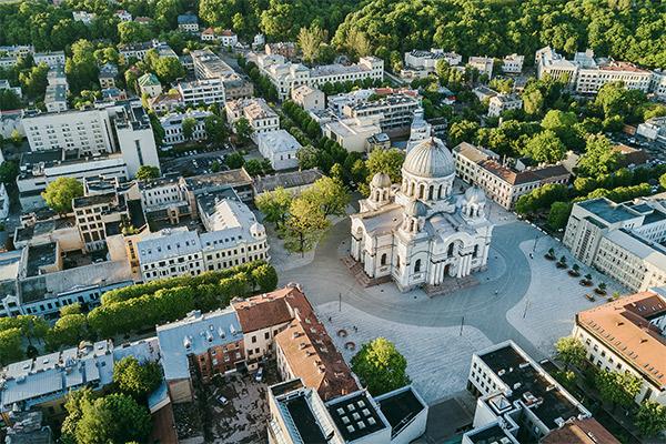 Stadtkern Kaunas, Litauen