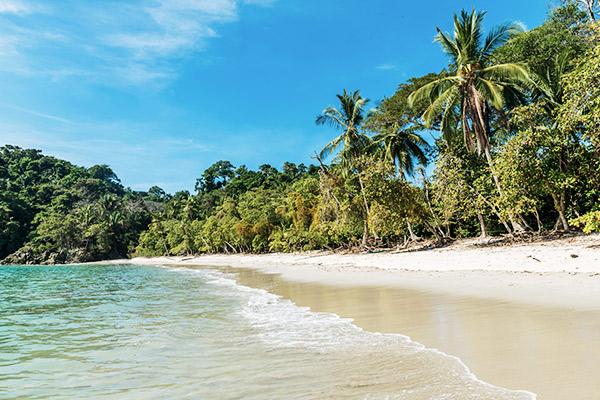 Weisser Strand im Manuel Antonio Nationalpark, Costa Rica