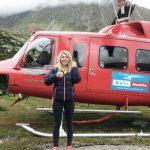 beim Renovieren der Hütte war der Hubschrauber oft zu Besuch