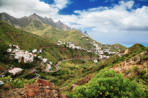 Dorf Taganana im Anaga Gebirge, Teneriffa