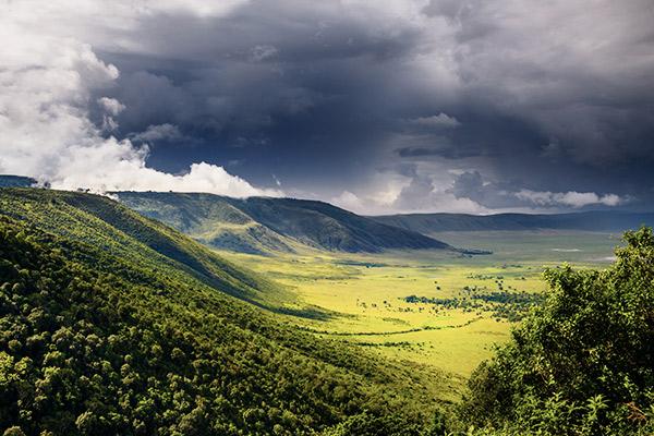Ngogongoro Krater in Tansania