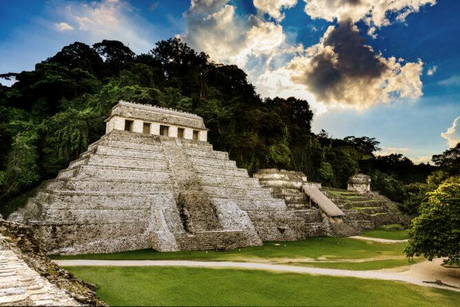 Tempel der Inschriften, Pelenque, Mexiko.