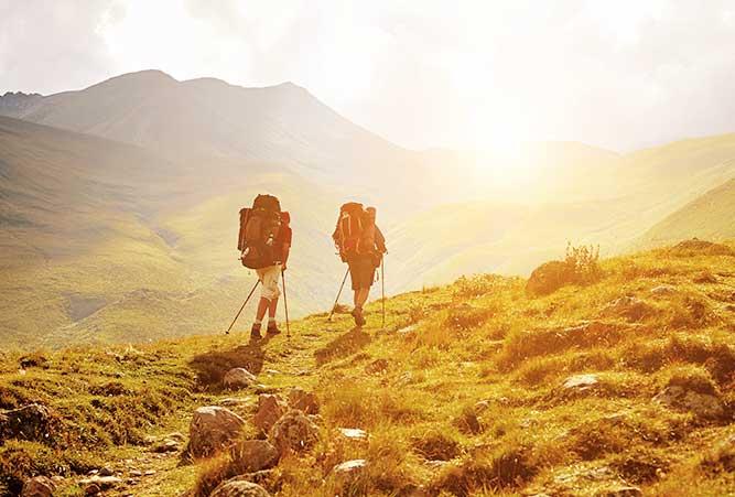 wanderer in bergen