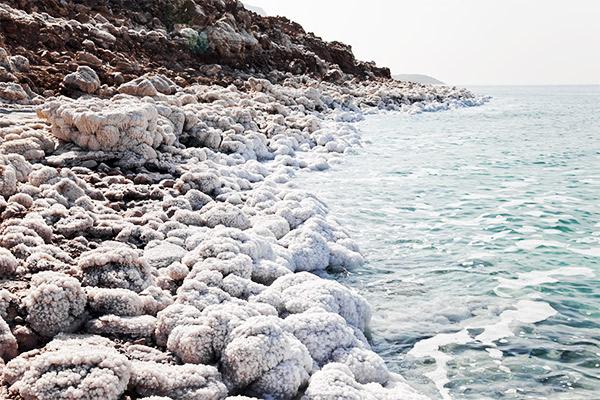 Salz beim Toten Meer, Jordanien