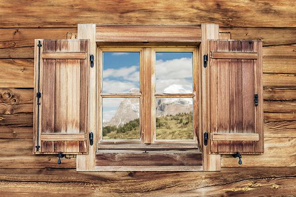 Fenster Berghütte