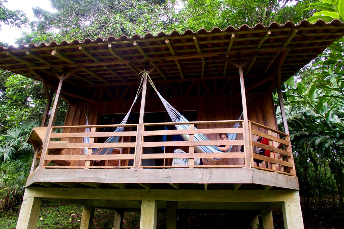 Die Aussicht auf den Regenwald in der Selva Bananito Lodge genießen