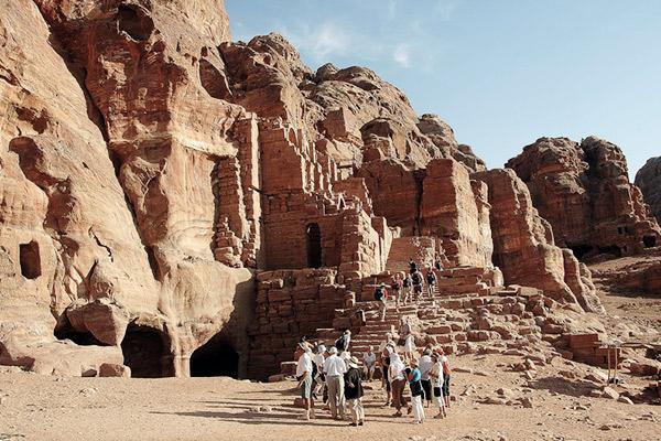 Urnengrab in Petra, Jordanien