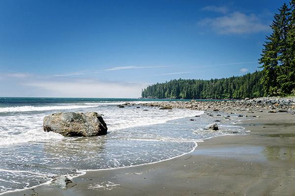 Strand auf Vancouver Island, British Columbia