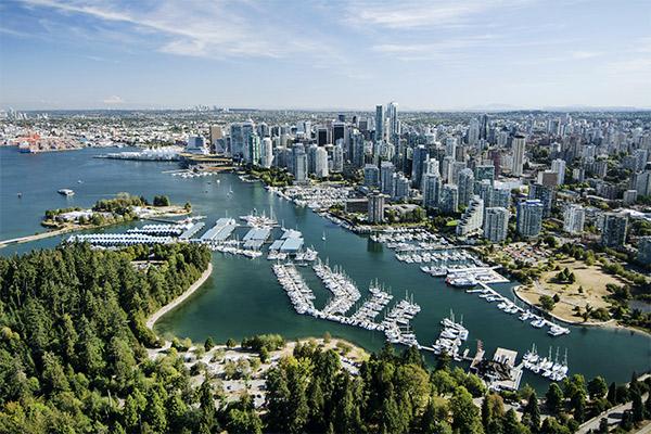 Stanley Park und Vancouver, British Columbia