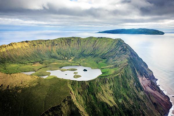 Vulkan auf den Azoren, Portugal