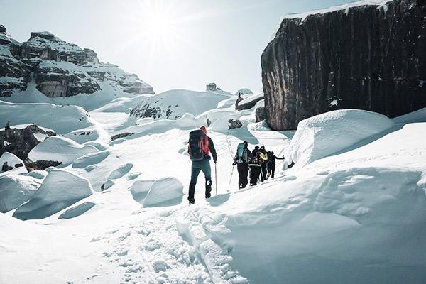 Aufstieg zum Monte Castello, Dolomiten