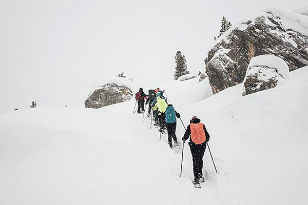 Schneefahnen und Wirbel, Fanesalm Dolomiten